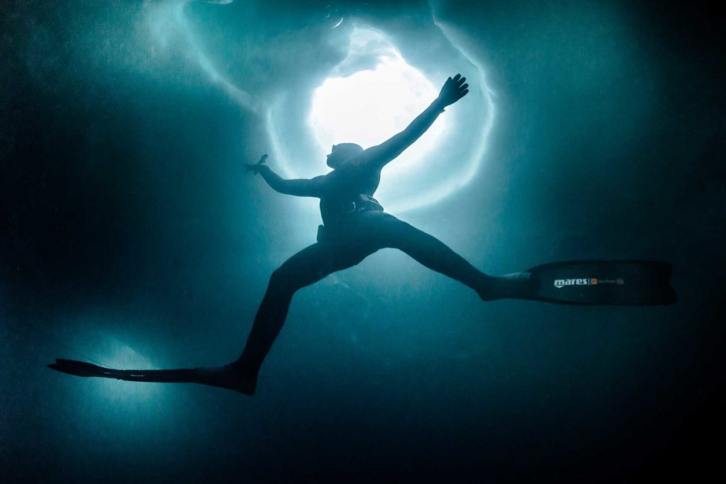 freediving in cold waters