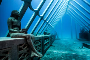 A new underwater sculpture by a famous artist