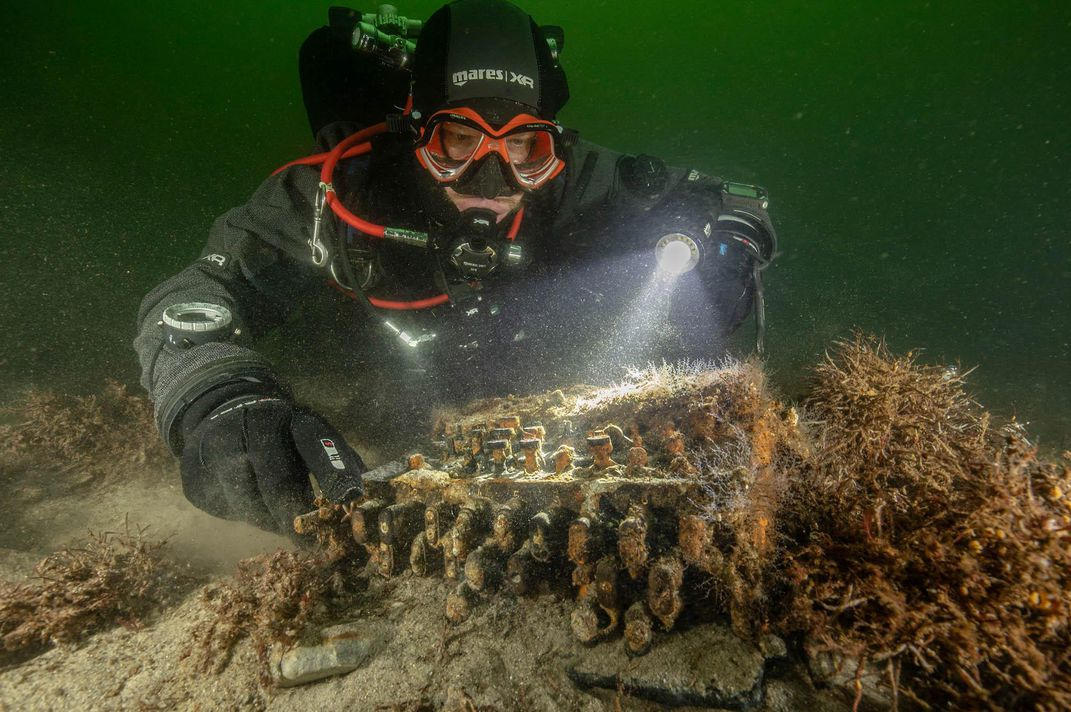 Divers found a Nazi Enigma at the bottom of the Baltic Sea