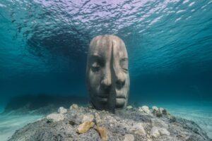 Underwater museum in the Mediterranean Sea